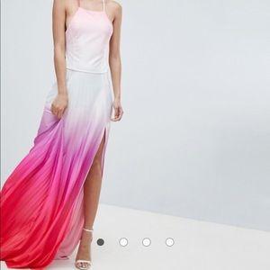 ASOS ombré maxi dress